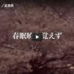【動画】詩吟「春暁」孟浩然